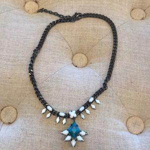 Dannijo gunmetal necklace
